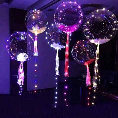 pcs bubble balloon led balloon luminous transparent