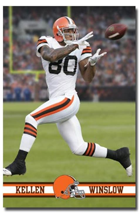 cleveland browns kellen winslow player action poster posters