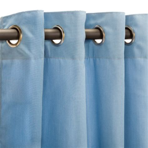 canvas air blue grommet sunbrella outdoor curtains