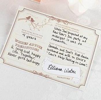 wedding wishes signature cards pkg