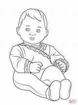 Doll American Drawing Coloring Pages Printable Julie Getdrawings sketch template