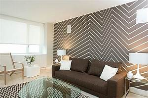Painting chevron walls is a new interior design trend
