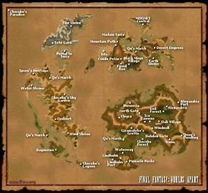Final Fantasy IX 9 FFIX FF9 World Map FFWA