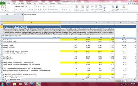 dcf template valuentum s dcf valuation model template for individual investors valuentum securities inc