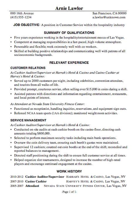 Resume Objective Exles Hospitality by industry 4 resume exles mod 232 le cv resum 233