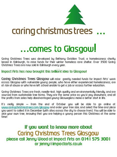 caring christmas trees come to glasgow