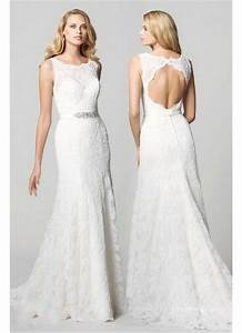 Lace open back wedding dress for Open back wedding dresses lace