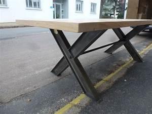 Pied De Table Metal Industriel : table industrielle pieds x ipn recycl s plateau en ch ne robin sicle ~ Teatrodelosmanantiales.com Idées de Décoration