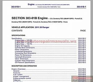 Free Automotive Manuals  Ford Ranger 2012 Workshop Manual