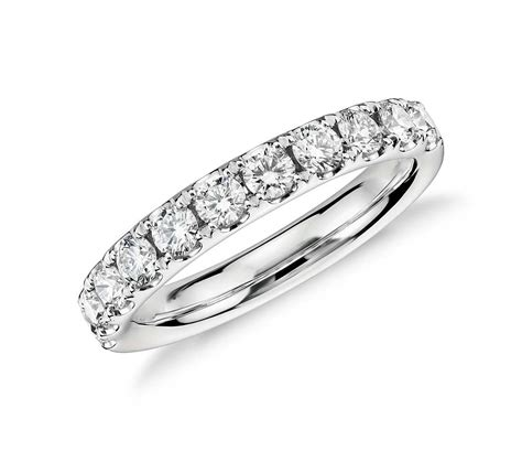 riviera pav 233 ring in platinum 3 4 ct tw blue nile