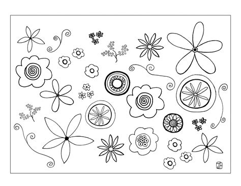 Flower Template To Color