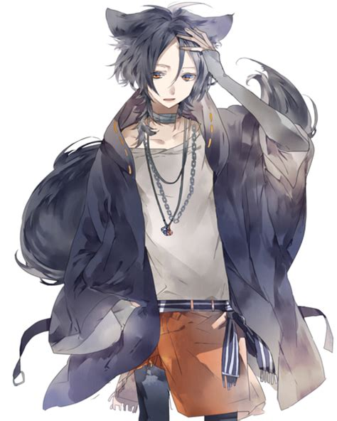 Imagen De Wolf And Anime Boy