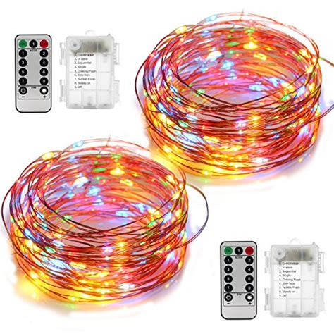 2 set string lights battery operated waterproof