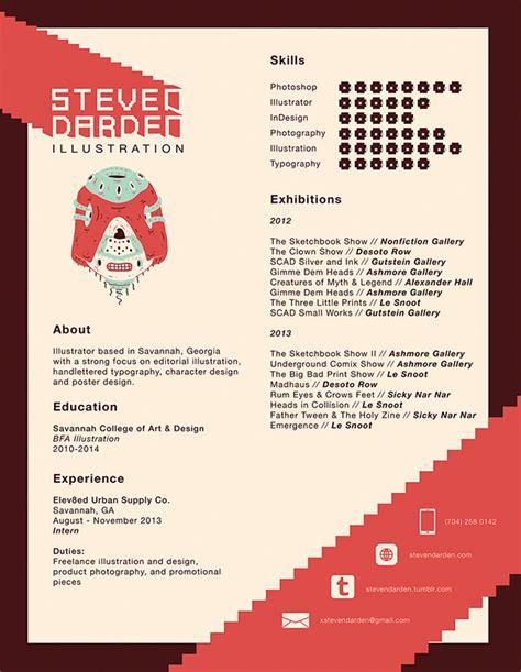 resume 2014 on scad portfolios