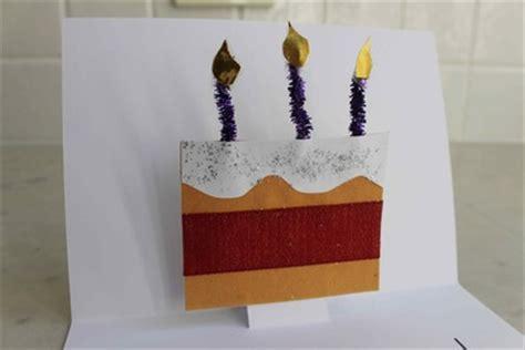 pop  birthday cake card  kid craft