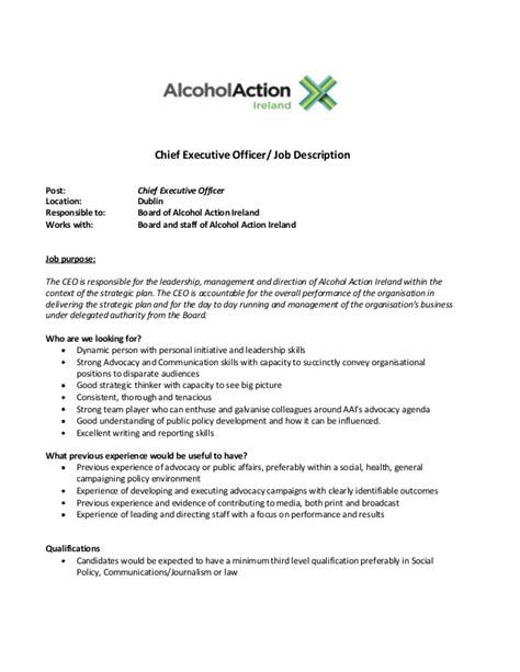 CEO Job Description
