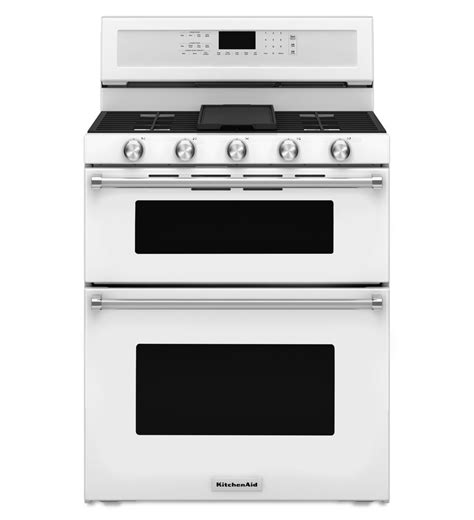 kitchen aid oven kfgd500ewh kitchenaid white gas range