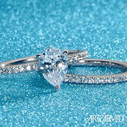 Pear Diamond Shaped Engagement Ring Rings Jewelry