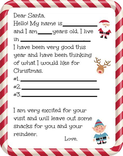 dear santa letter printable farmers wife rambles