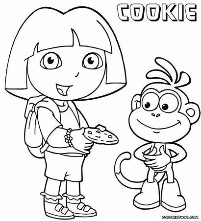 Cookies Coloring Pages Colorings Dora