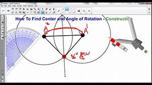 Finding Center And Angle Of Rotation