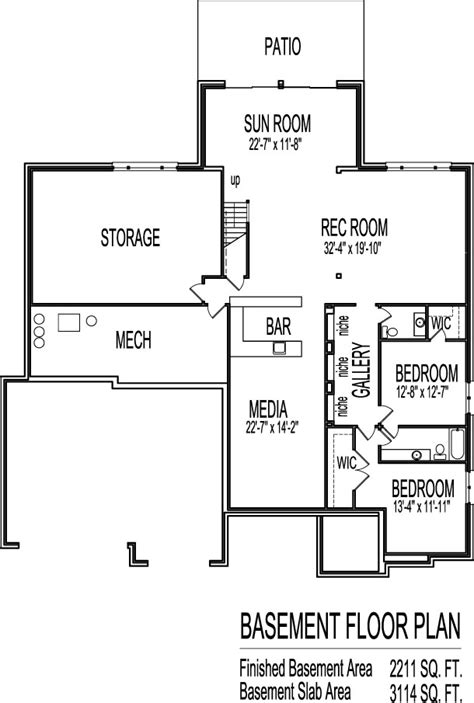 tuscan house floor plans single story  bedroom  bath