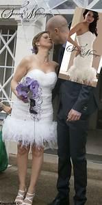 Robe Courte Mariée : robe de mariee courte et originale avec plumes d 39 autruches sunny mariage ~ Melissatoandfro.com Idées de Décoration