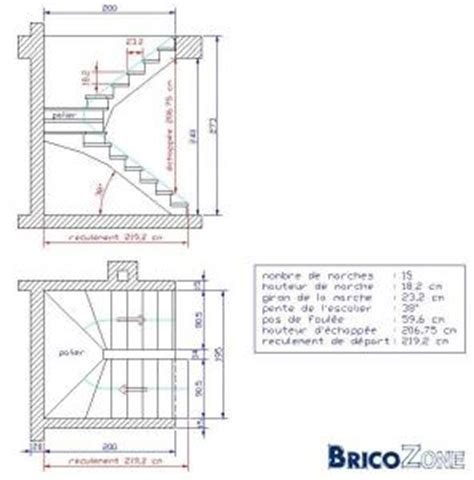 calcul escalier avec palier calcul escalier tournant avec palier