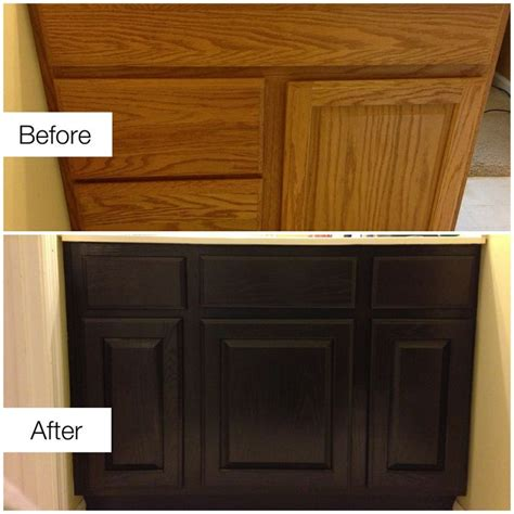 Restaining Oak Cabinets Before And After by Pin By Healing Touch Essentials On Diy Home