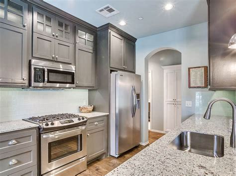 gray kitchen white cabinets gray granite countertop ideas with white cabinets the best