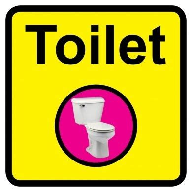 toilet sign 300mm x 300mm toilet bathroom signage