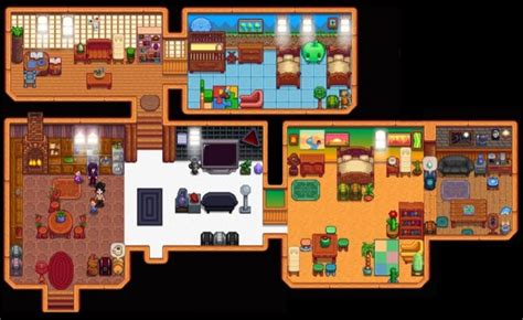 full farm house interior  cellar shown stardew valley