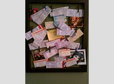 Concert Tickets Displayed! I am so doing this for my