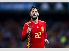INJURY NEWS Real Madrid's Isco exits Spain match with injury