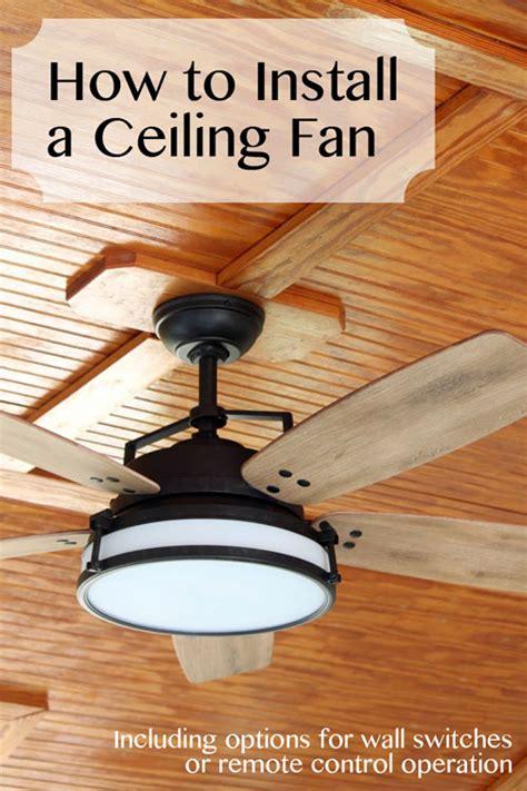 Ceiling Fan Install by How To Install A Ceiling Fan Pretty Handy