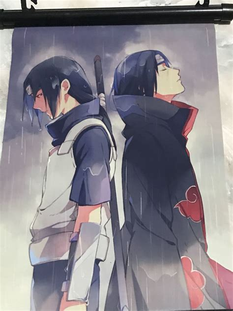 japanese anime naruto itachi uchiha wall poster canvas
