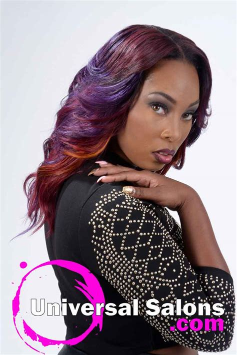 how to color weave sew in weave hairstyle with color from nakia boykin