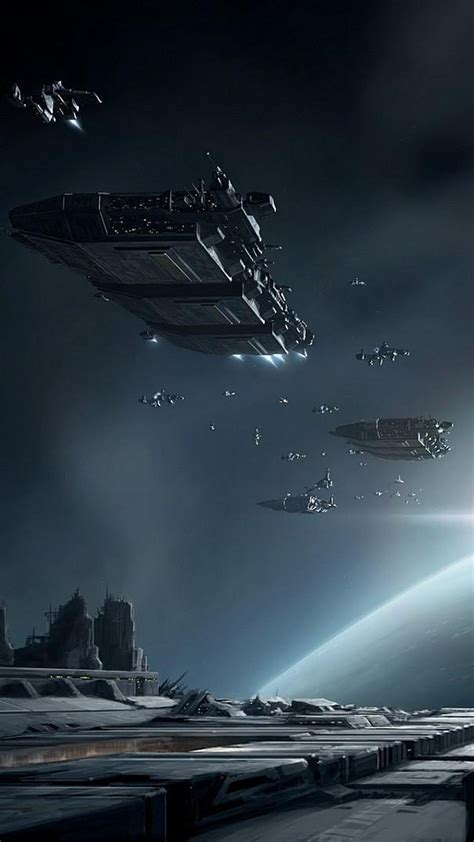 eve  game spaceships battle android wallpaper