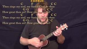 Guitar Chords Chart Images How Great Thou Art Hymn Ukulele Cover Lesson In C With