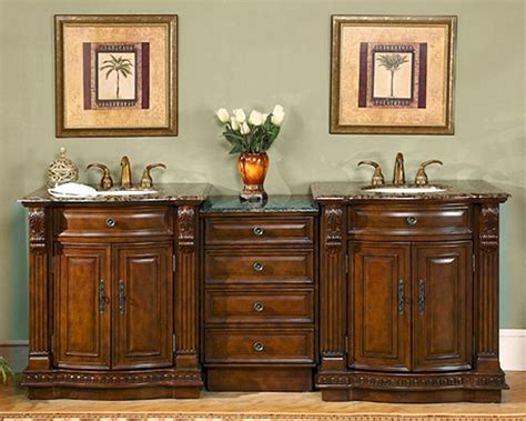 tops kitchen cabinet silkroad 84 quot sink cabinet w drawer bank brown 2870