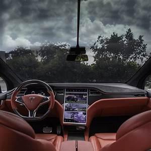 Tesla Model X Custom Interior in Bentley Red with Matte Carbon Fiber Steering Wheel | Tesla ...
