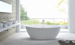 Freistehende Badewanne Mineralguss : freistehende badewanne aus mineralguss hawaii weiss ebay ~ Michelbontemps.com Haus und Dekorationen