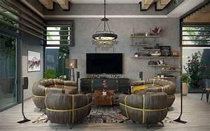 Rustic, Industrial, Living, Room, Ideas, To, Inspire
