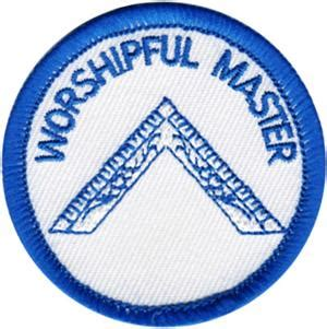 mwm  embroidered patch worshipful master