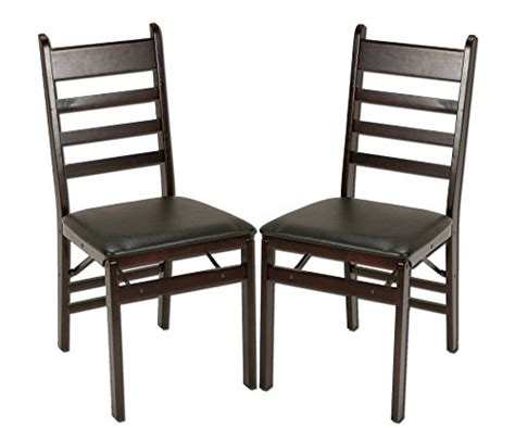 cosco wood folding chair espresso cosco 2 pack wood folding chair with vinyl seat and ladder