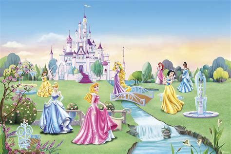 baby room sports theme princess castle children wallpaper wall mural