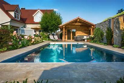 Pool Garten Gartengestaltung Bullinger Fuer Neu Um