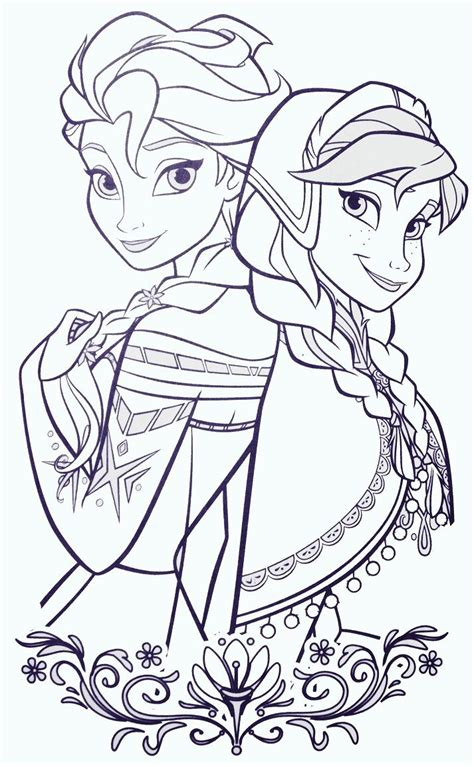 elsa  anna coloring sheets frozen coloring pages