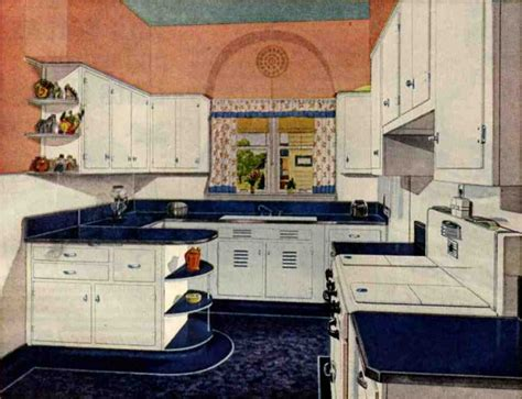 retro kitchen design sets  ideas