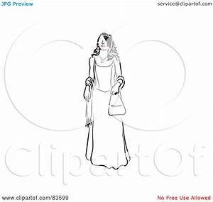 Royalty-Free (RF) Clipart Illustration of a Line Drawing ...